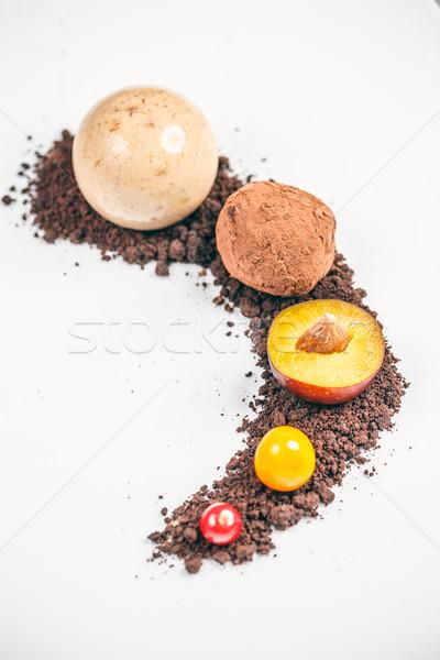 çikolata Özel akşam yemekleri dekorasyon süt şeker Stok fotoğraf © grafvision