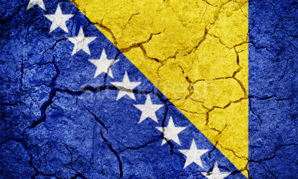Bosnia Herzegovina bandera secar tierra suelo textura Foto stock © grafvision
