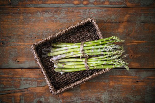Fresche verde asparagi top view salute Foto d'archivio © grafvision