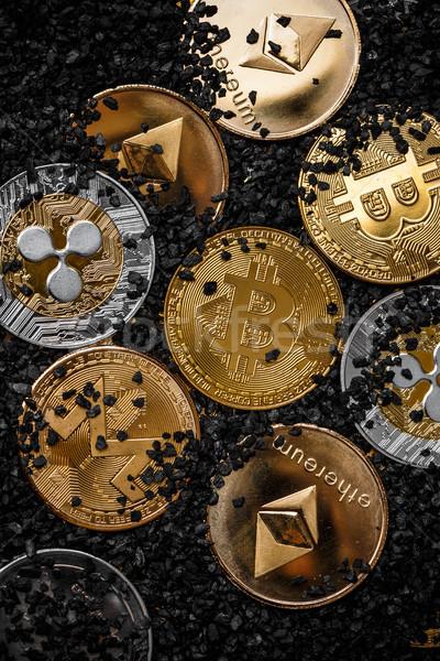 Set of cryptocurrencies Stock photo © grafvision