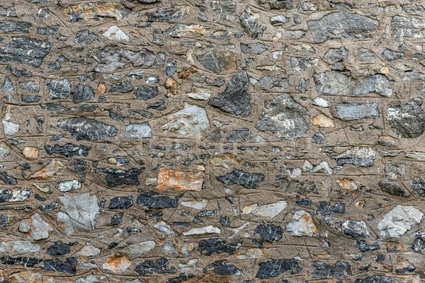 Irregolare muro di pietra texture costruzione abstract sfondo Foto d'archivio © grafvision
