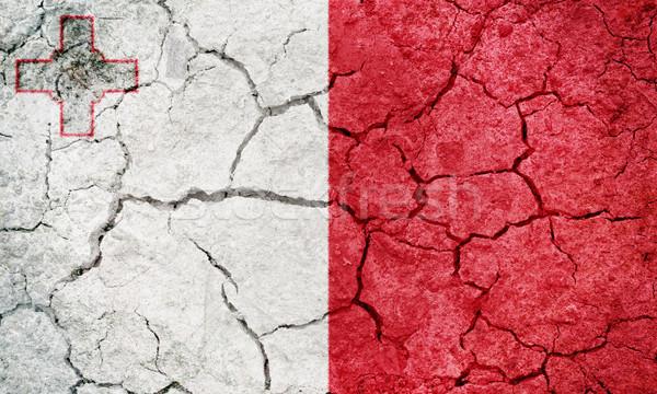 Republiek Malta vlag drogen aarde grond Stockfoto © grafvision