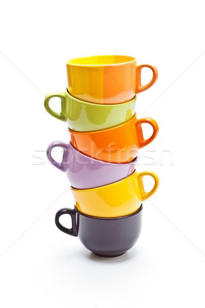 色 カップ 白 コーヒー 背景 緑 ストックフォト © grafvision