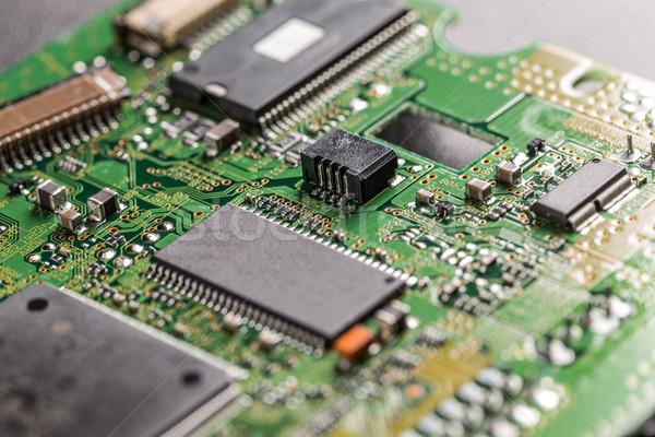 Elektronik devre kartı işlemci bilgisayar Internet Stok fotoğraf © grafvision