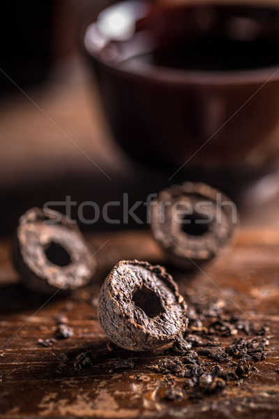 Compressed pu-erh chinese tea Stock photo © grafvision