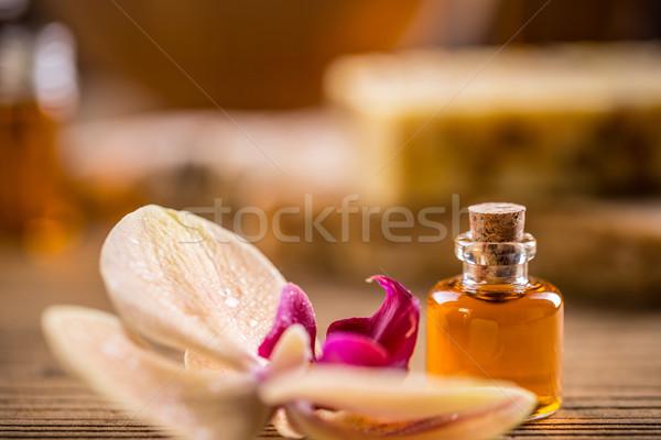 Leczenie uzdrowiskowe aromaterapia zdrowia muzyka spa Zdjęcia stock © grafvision