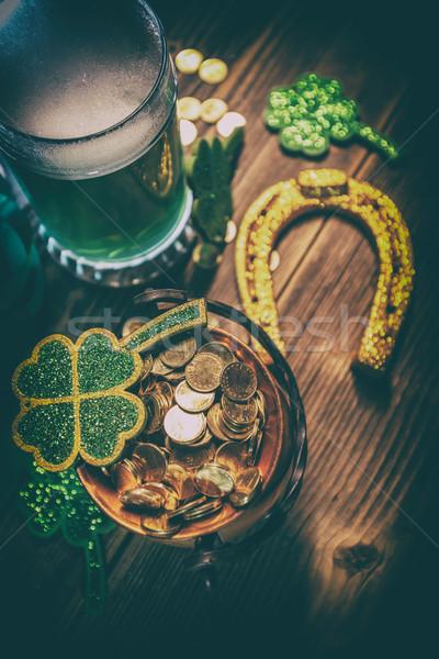 святой день банка золото подкова пива Сток-фото © grafvision