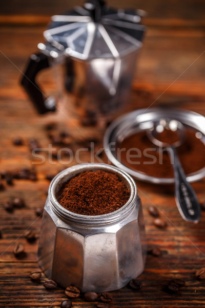 Old coffee maker Stock photo © grafvision