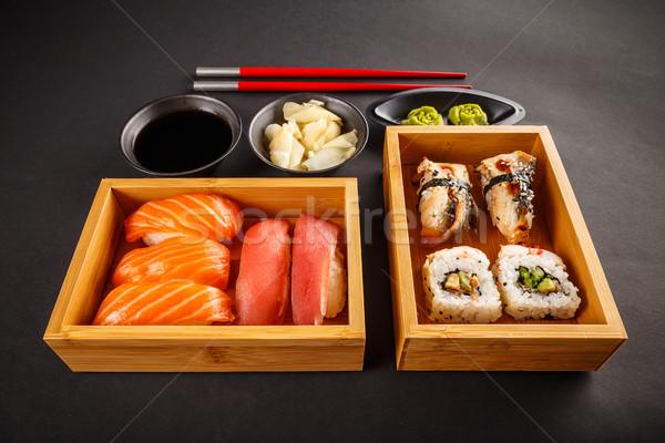 Sushi set, sushi rolls Stock photo © grafvision
