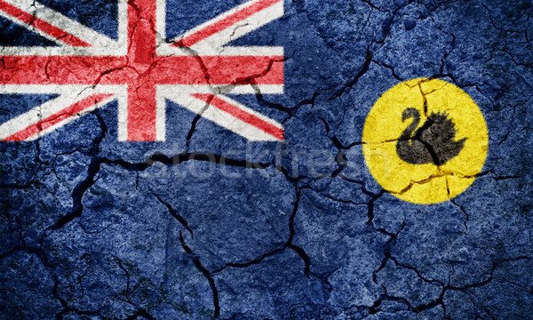 западной Австралия флаг высушите земле землю Сток-фото © grafvision