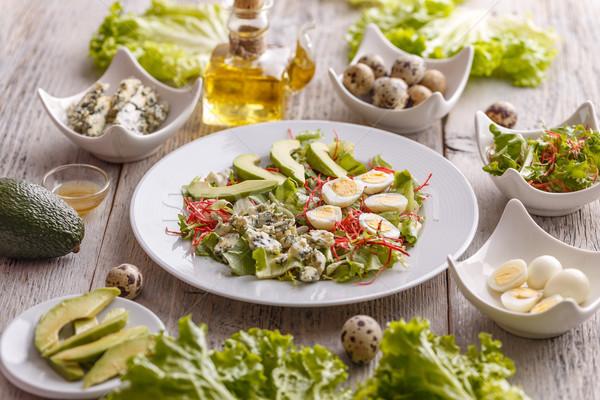 Fatto in casa avocado insalata formaggio tipo gorgonzola alimentare cena Foto d'archivio © grafvision