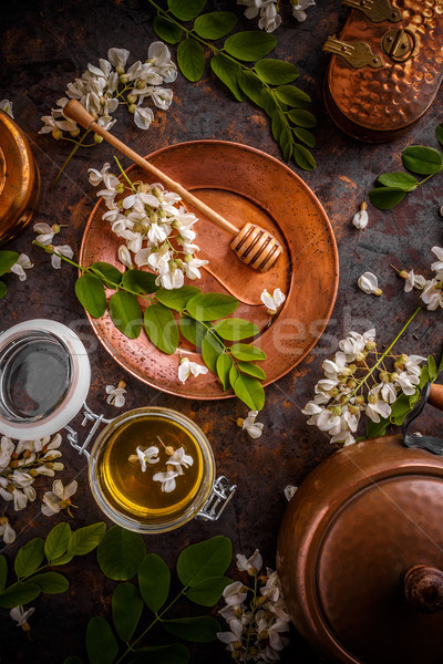 Composition of Acacia honey Stock photo © grafvision