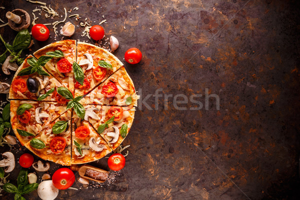Composition with tasty pizza  Stock photo © grafvision