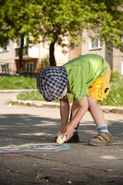 Boy drawing Stock photo © grafvision