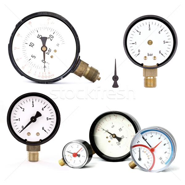 pressure meters isolated Stock photo © grafvision