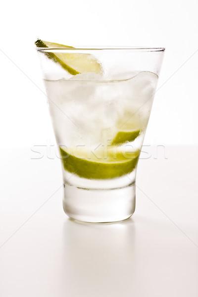 водка извести льда белый вечеринка зеленый Сток-фото © grafvision