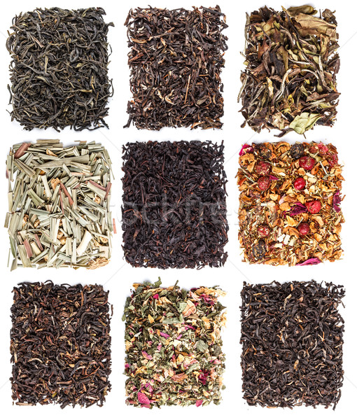 Tea leaves collection  Stock photo © grafvision