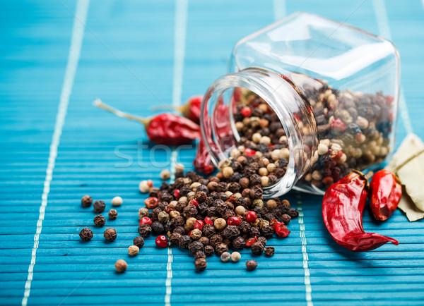Karışım farklı cam kavanoz gıda Stok fotoğraf © grafvision