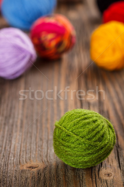 Green woolen clew Stock photo © grafvision