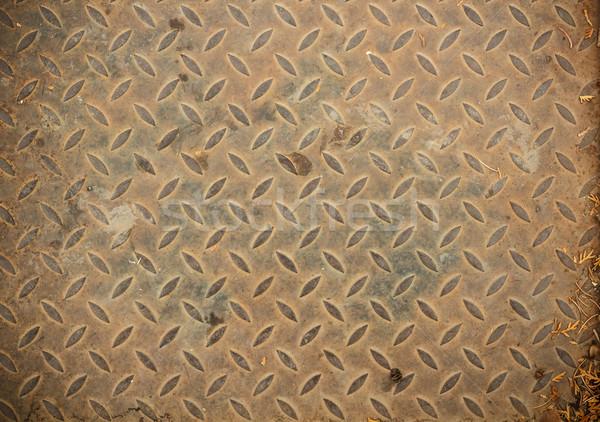 öreg rozsdás vasaló tányér barna szín Stock fotó © grafvision