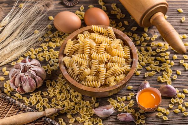 Fusilli raw pasta Stock photo © grafvision