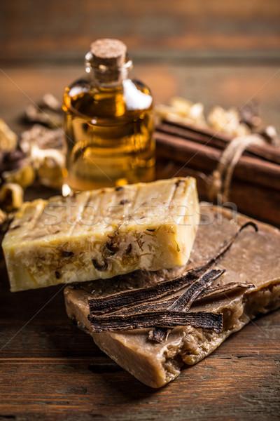 Vanilla handmade soap Stock photo © grafvision