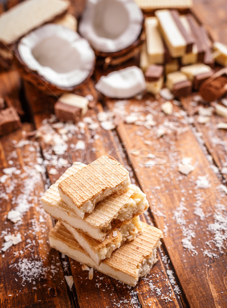 Stack of wafer sandwiches Stock photo © grafvision
