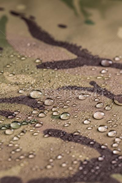 Kamuflaż wodoodporny tkaniny deszcz tekstury Zdjęcia stock © grafvision