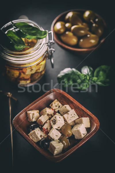 Cubes of cheese Stock photo © grafvision