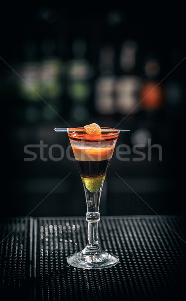 Refreshing layered cocktail  Stock photo © grafvision