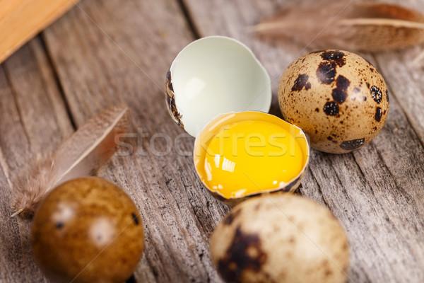 Close up of quail eggs  Stock photo © grafvision