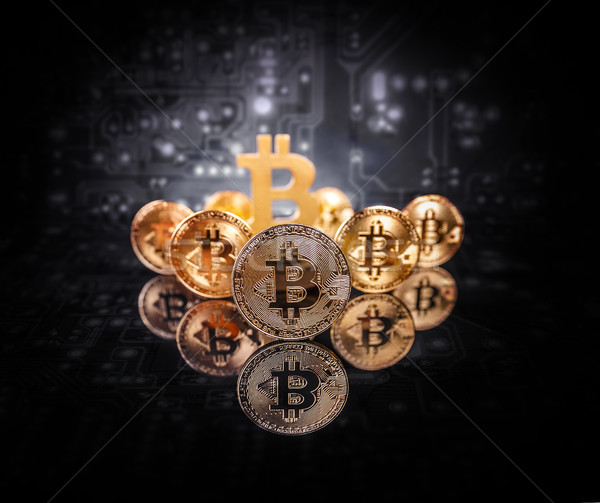 Conceptual image for crypto currency Stock photo © grafvision