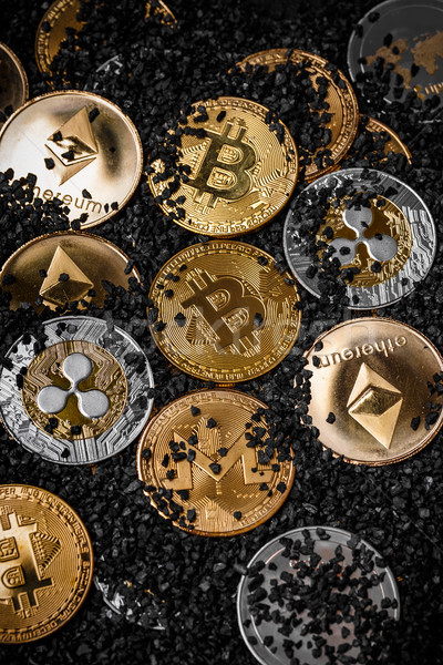 Pile of cryptocurrencies Stock photo © grafvision