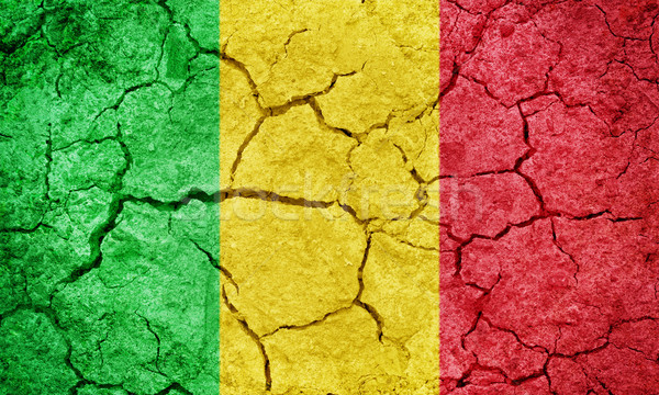 Cumhuriyet Mali bayrak kuru toprak zemin Stok fotoğraf © grafvision