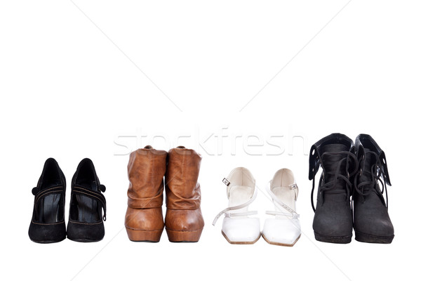 Four pairs different shoes Stock photo © grafvision