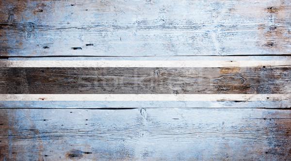 Zászló Botswana festett koszos fa palánk Stock fotó © grafvision