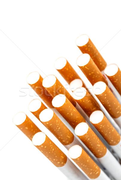 Sigaretta primo piano copia spazio isolato bianco carta Foto d'archivio © grafvision