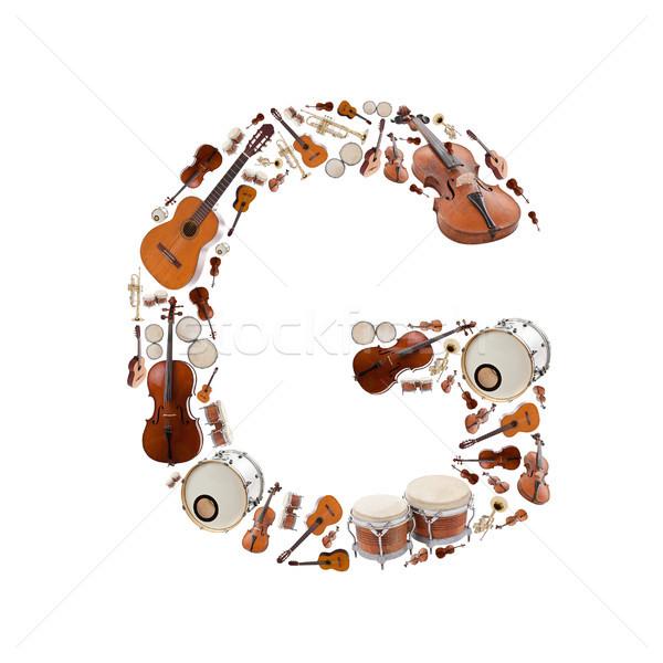 楽器 アルファベット 白 文字g ツリー ギター ストックフォト © grafvision