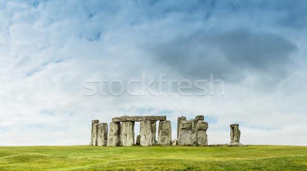 Stonehenge anciens pierre herbe monde Rock Photo stock © grafvision