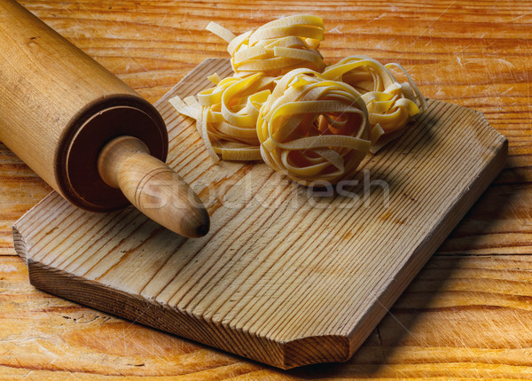 Rolling pin with pasta Stock photo © grafvision