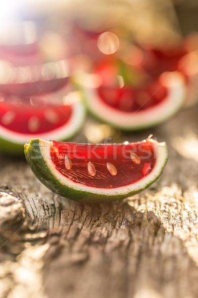 Strawberry jello Stock photo © grafvision