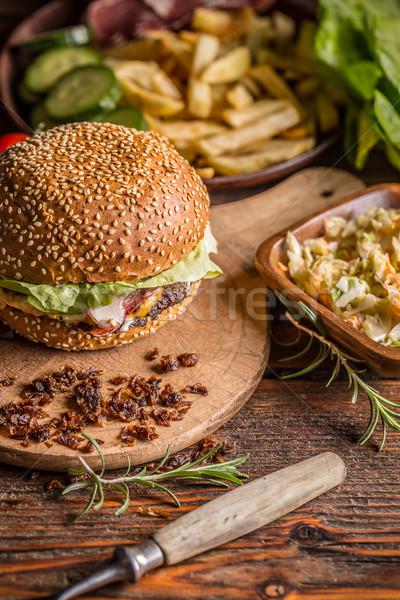 Burger in sesame bun Stock photo © grafvision