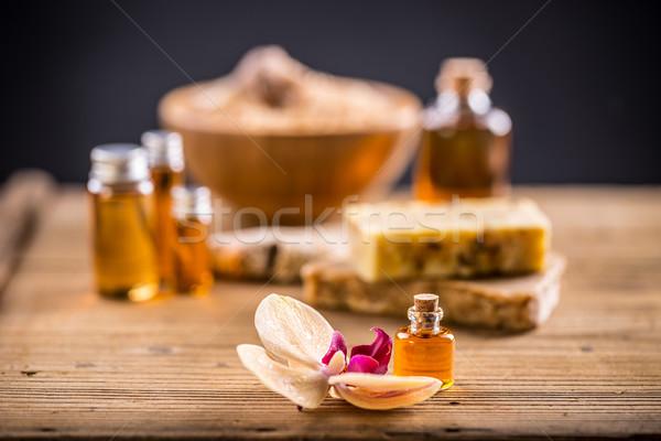 Spa aromaterapia tratamiento flores médicos Foto stock © grafvision