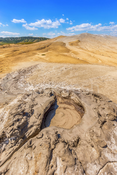 Aktív sár vulkán kráter háttér utazás Stock fotó © grafvision