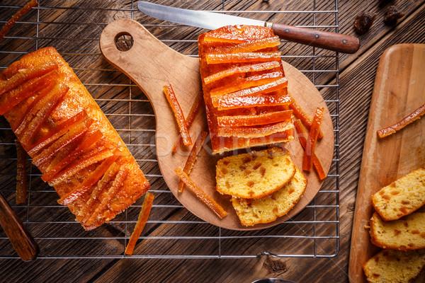 Cake with candied orange peel Stock photo © grafvision