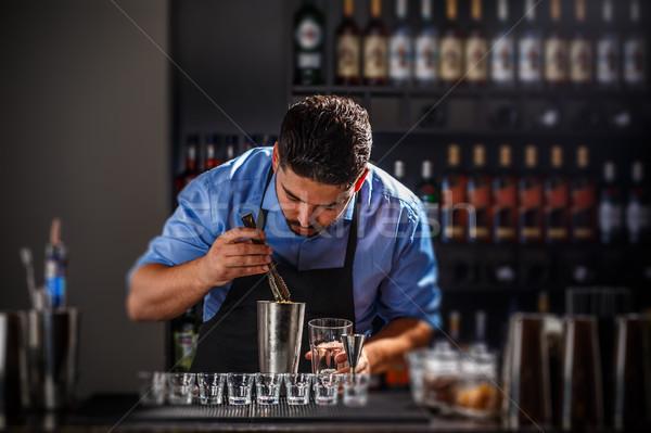 Barmen restoran bar parti cam Stok fotoğraf © grafvision