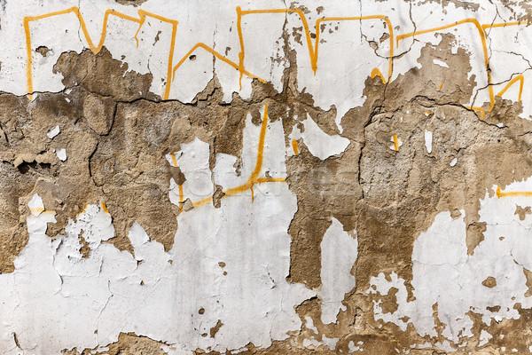 Starych konkretnych ściany streszczenie pusty opuszczony Zdjęcia stock © grafvision