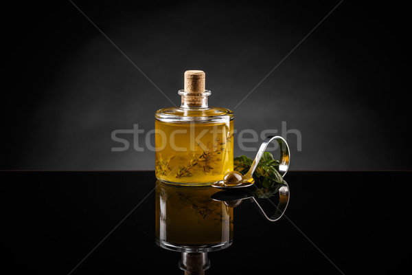 Olive oil with thyme Stock photo © grafvision
