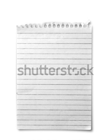 One sheet from notebook Stock photo © grafvision