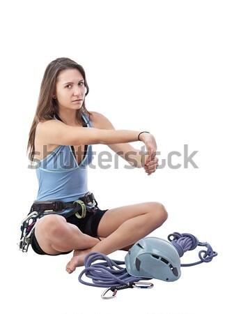 girl in climbing equipment Stock photo © grafvision